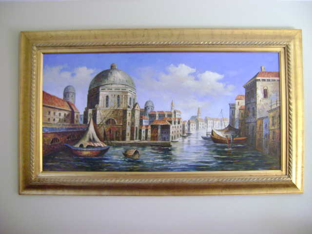 Mediterranean Art Painting 24 X 46 For Sale