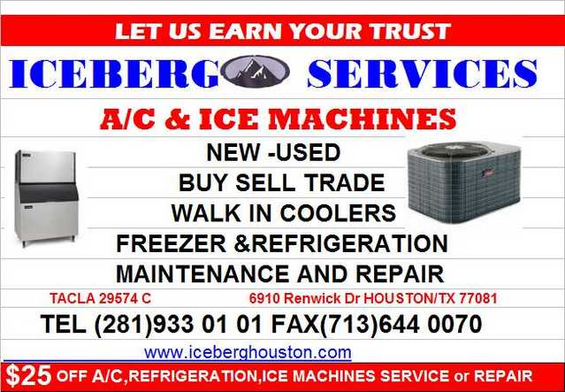 Ice Machines Services