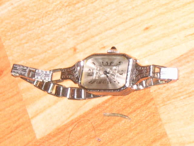 Antique Watch 19k White Gold