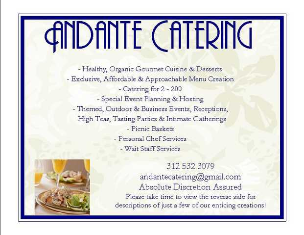 Organic And Natural Catering Now Available To Chicagoland