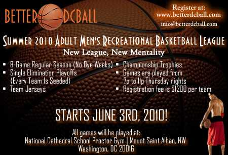 Summer 2010 Adult Mens Basketball League