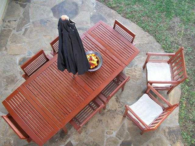 Teak Wood Outdoor Patio Set