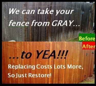 Save! Colorado Springs Fence Fix Restore Power Wash Stain Replace