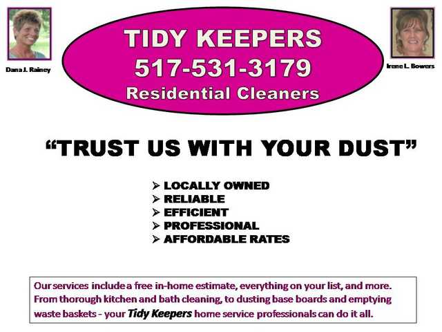 Tidy Keepers - Residential Cleaners