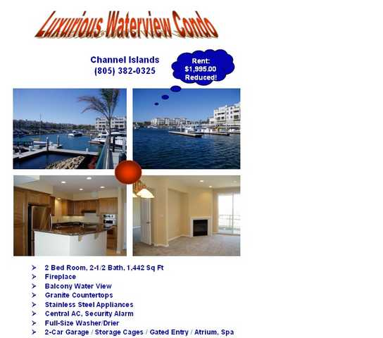 $1995 2bedroom 2.5 Bath - Luxurious Waterview Condo