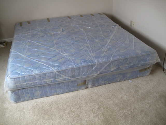 King Size Bed With 2 Spring Box