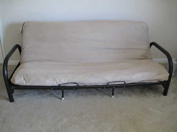 Futon With Futon Cover And 2 Pillows
