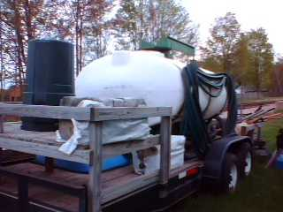 2001,750 Gal Hydroseeder, Trailer, Pump To Fill Tank, And Trailer