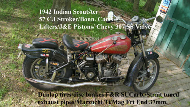 1942 Indian Scoutster Bobber / Bar Hopper / Sleeper