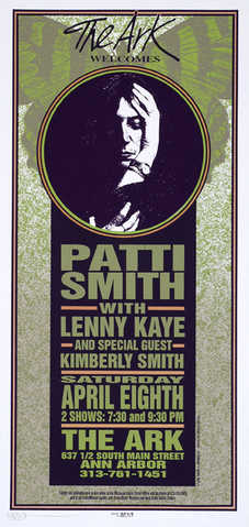 Signed Patti Smith Arminski Poster Full Size Framed