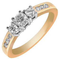 1 / 2 Kt 14 Kt Gold (Engagement Ring)