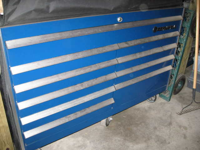 58 Blue Cornwell Tool Box, $ 2000.00