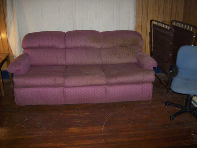Burgundy Pull - Out Sofa Bed