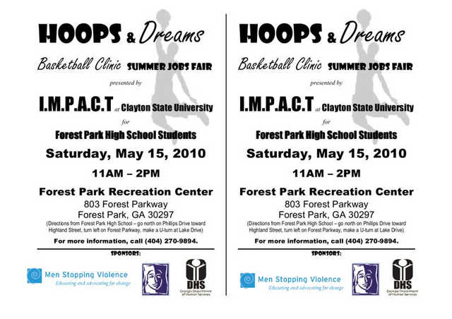 Hoops & Dreams Basketball Clinic Summer Jobs Fair
