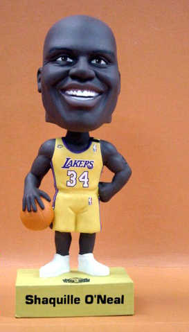 Shaquille O' Neal Bobbing Head Doll. Series One Back To Back