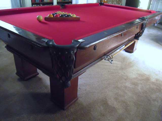 slate pool tables for sale nz bed table weight townsville antique aviator oak top