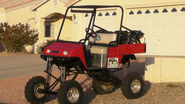 1993 Ez - Go Gas Golf Cart W / Lift Kit& Hd Tires Must C! Will Trade
