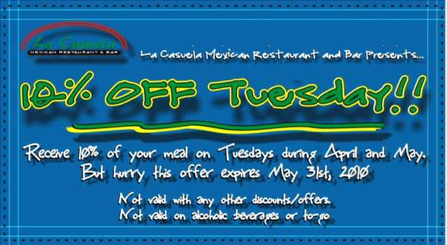 10% Off Tuesday