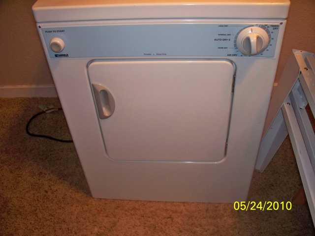 kenmore portable washer and dryer with stand for to stack used