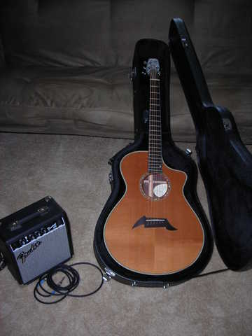 Pro Series Breedlove C 25 / Crh Electric Acostic Guitar With Fend