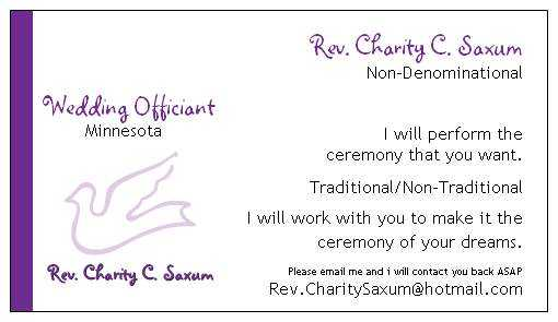 Licensed Wedding Officiant