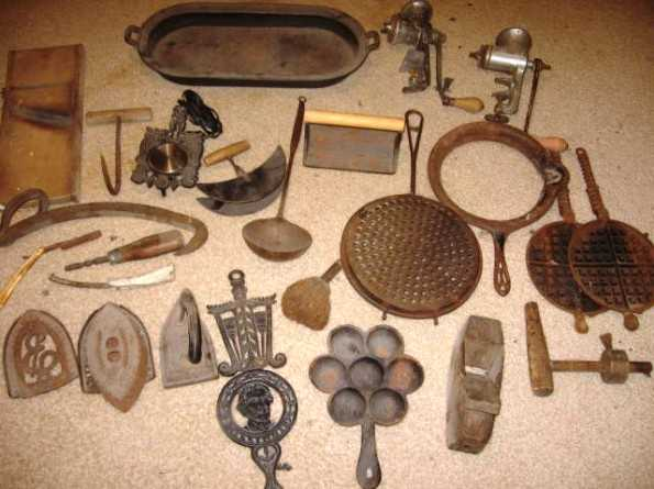 Misc. Antique Iron Pieces And More