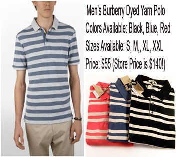 Men's Authentic Burberry Polo Shirt. Lacoste, Ralph Lauren, Dolce