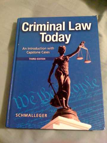 Sac Criminal Law Today Textbook For Sale