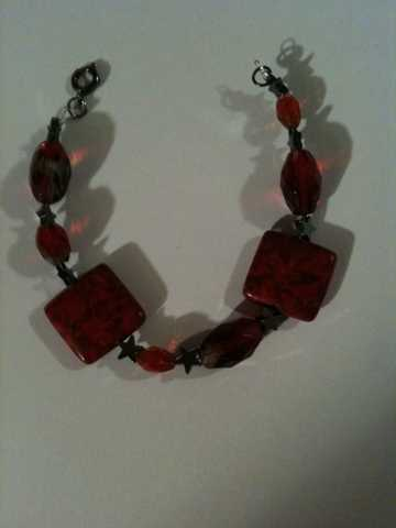 Red Bracelet / Earring
