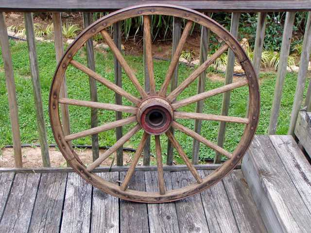 Antique 45 Wooden Wagon Wheel