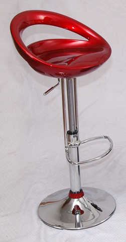 Modern Fiery Red Hydraulic Bar Stool