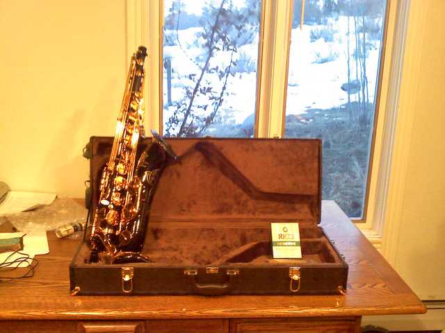 East Star Tenor Saxophone And Barrington Tenor Trombone With F At