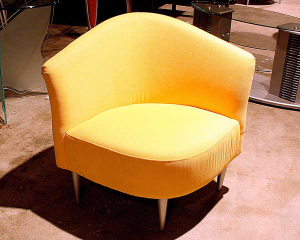 New   50% Lemon Yellow Triangular Accent Chair $199.00!