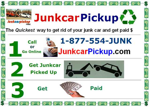 Junk Car Pickup For Cash