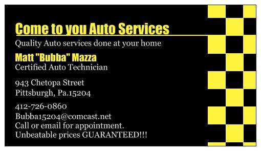 Come To You Auto Services