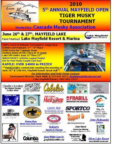 5th Annual Mayfield Open Tiger Musky Tournament.