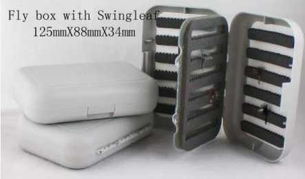 Swing Leaf Fly Box Holds Your Flies (384) Securely.