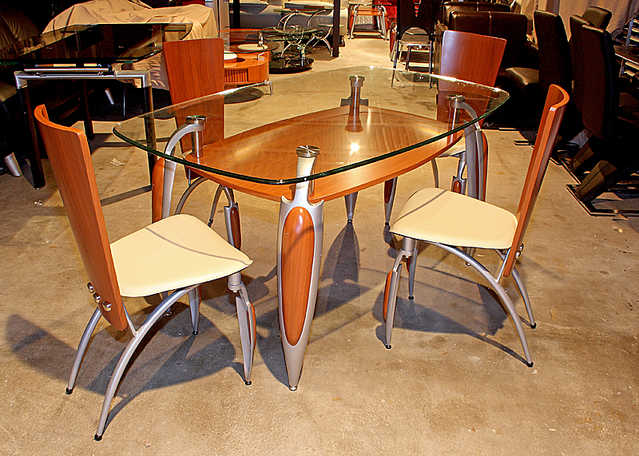New - Tempered Glass Top Table And Four Chairs $500 Off!