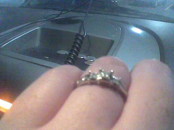 14 Kt White Gold Princess Cut Diamond Engagement Ring