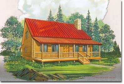 1040 Square Foot Log Cabin Package For Sell