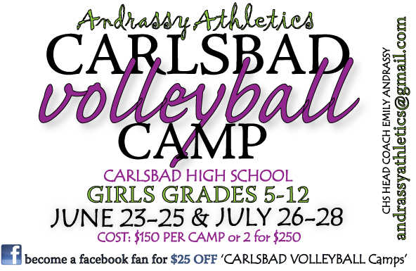 Carlsbad Volleyball Camps!