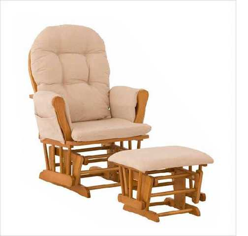 Nursery Upholstered Rocking Chair & Ottoman - Oak - $80