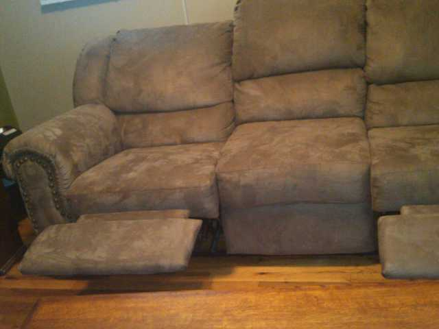 Double Recliner Couch And Coffee Table