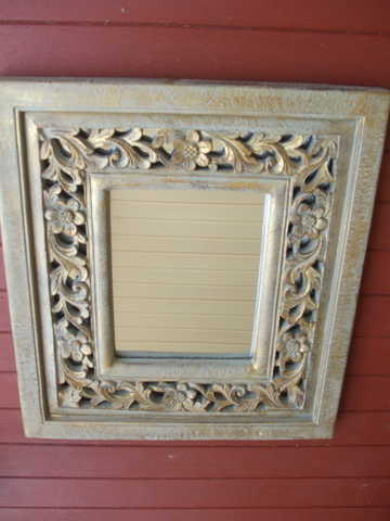 Mirror With Gold Frame 22 X25 Mint Condition