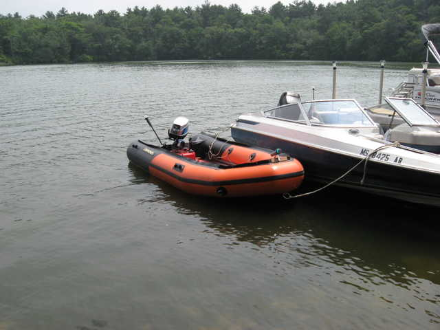 Inflatable Boat With 9.9 Motor