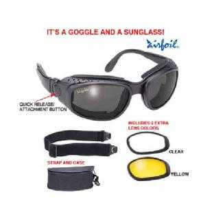 Motorcycle Convertible Goggles Sunglasses