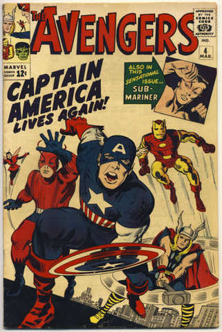Avengers #4 (1963) ( Debut Of Captain America In Silver Age)