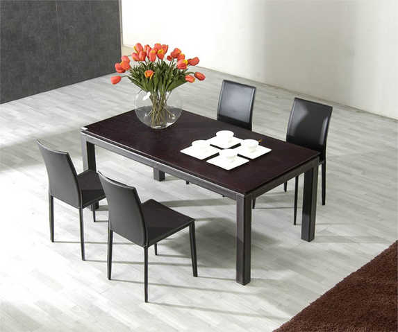 Modern 5 Piece Butterfly Leaf Table Set