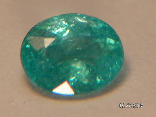 True Copper Bearing Paraiba Tourmaline