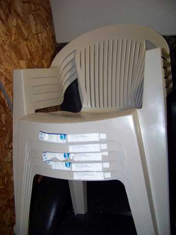 Five Plastic Lawn Chairs Fro Sale $40 O. B. O.